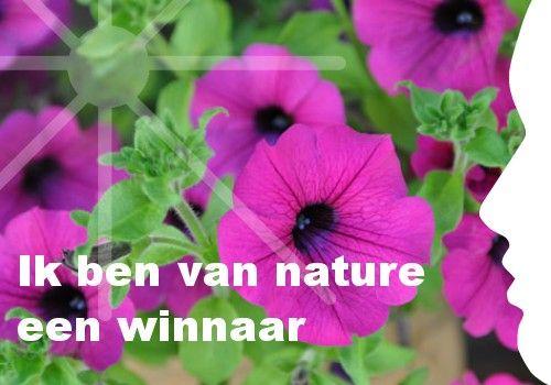 Mijn inspiratie: Ik ben van nature   een winnaar