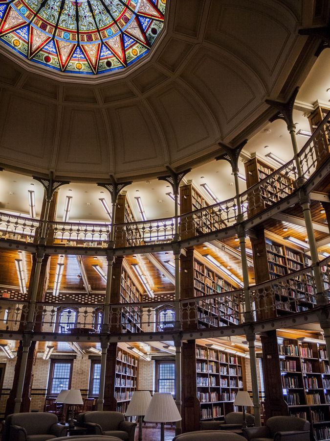 This is the Linderman Library, Pennsylvania. I could spend my life in here!