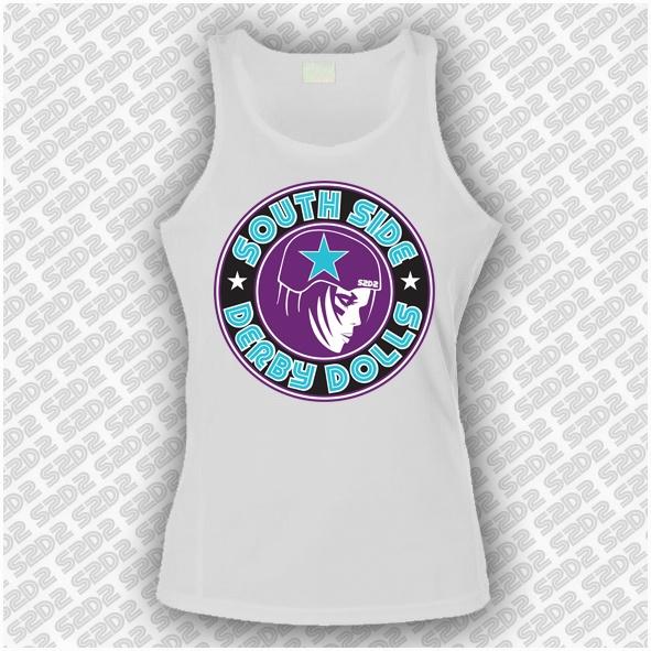 Roller Derby womens singlet. Buy at www.southsidederby.com $30