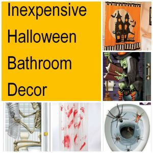 Don't leave your bathroom out this Halloween - Check out these inexpensive ideas if you're looking for Halloween Bathroom decor that is fun and festive. You can make a funny Halloween bathroom, scary Halloween bathroom, or a juvenile bathroom if you have young kids in the home.  Plus if you're looking for Halloween party ideas these are great! All for $2.99 to $21.99 to create a big Halloween smile! Dare to scare.... Happy Hauntings!
