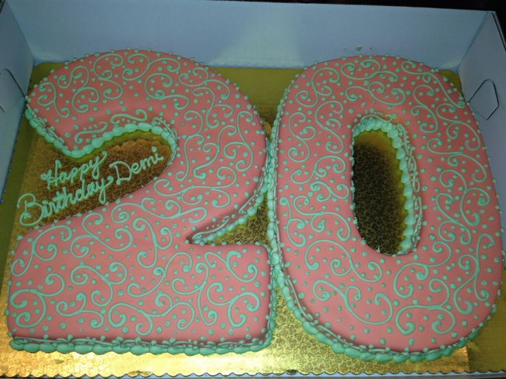 20th Birthday Cake Food Pinterest 20th Birthday Birthday