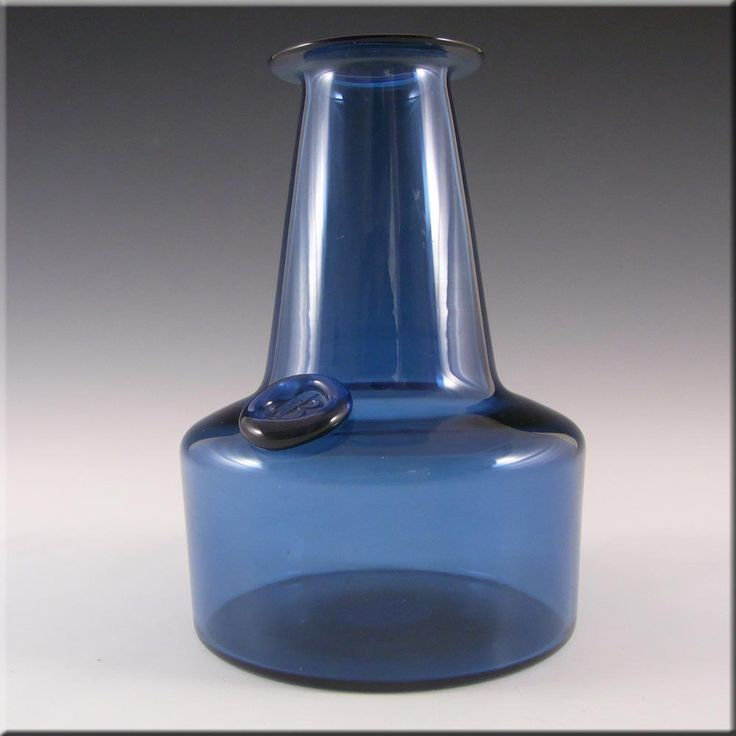 Kastrup/Holmegaard Blue Glass Capri Vase - Jacob Bang - £60.00