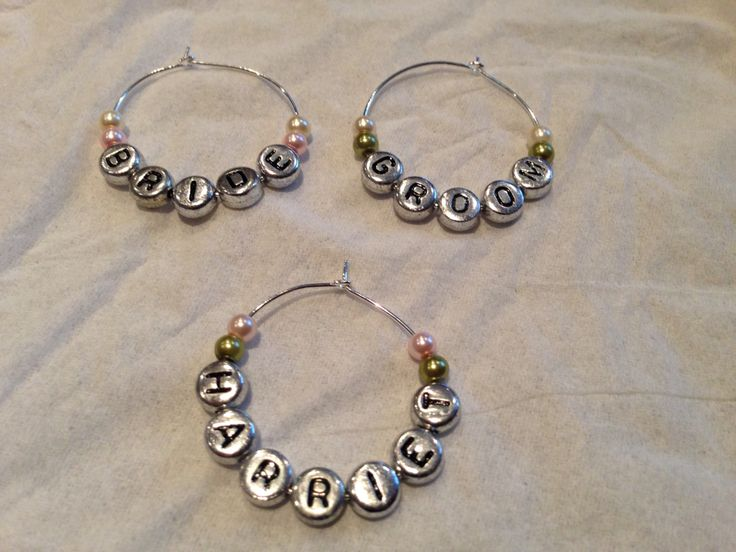 13 best Wedding wine glass charms images on Pinterest | Wedding ...