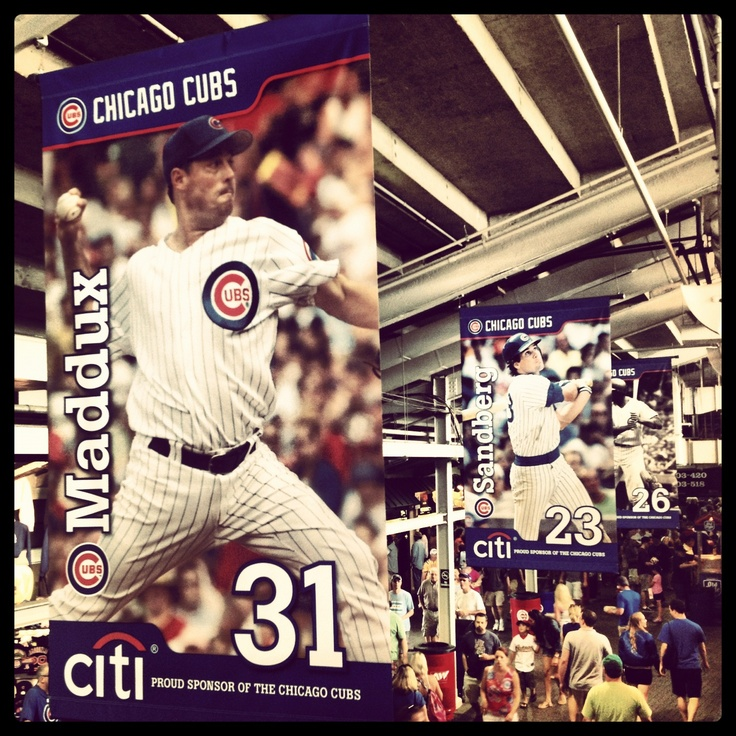 #Cubs legends Greg Maddux and Ryne Sandberg.