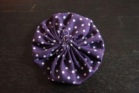 tuto yoyo fleurs en tissu pour décorer
