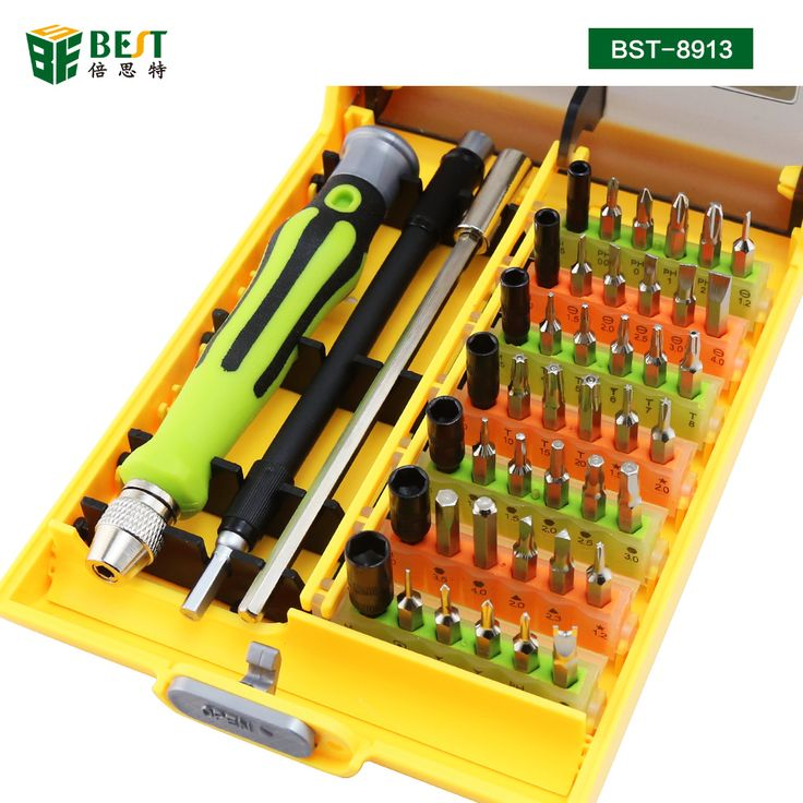 BST-8913 45 in 1 Professional Electronic Precision Screwdriver Set Hand Tool Set Opening Tools for iPhone PC Repair Tools Kit