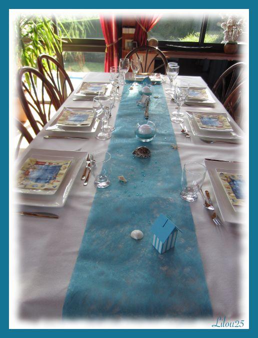 Table thème mer et plage...