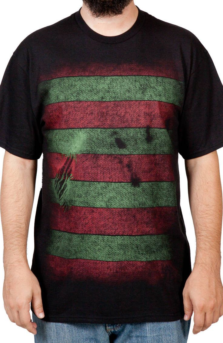 Freddy Krueger Mask T-Shirt: Nightmare On Elm Street Mens T-shirt