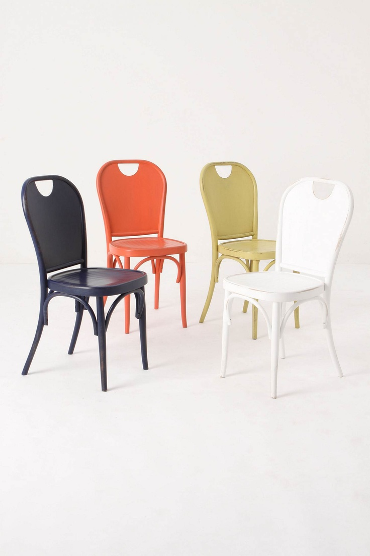 yeah- kinda need this set. anthropologie's henri dining chairs: Dining Rooms, Henry Chairs, Colors Combos, Cafe Chairs, Dining Chairs, Kitchens Tables, Anthropologie Henry, Henry Dining, Colors Chairs