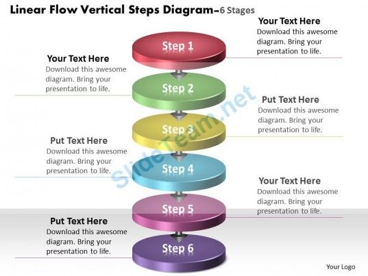 linear_flow_vertical_steps_diagram_6_stages_process_charts_examples_powerpoint_templates_Slide01