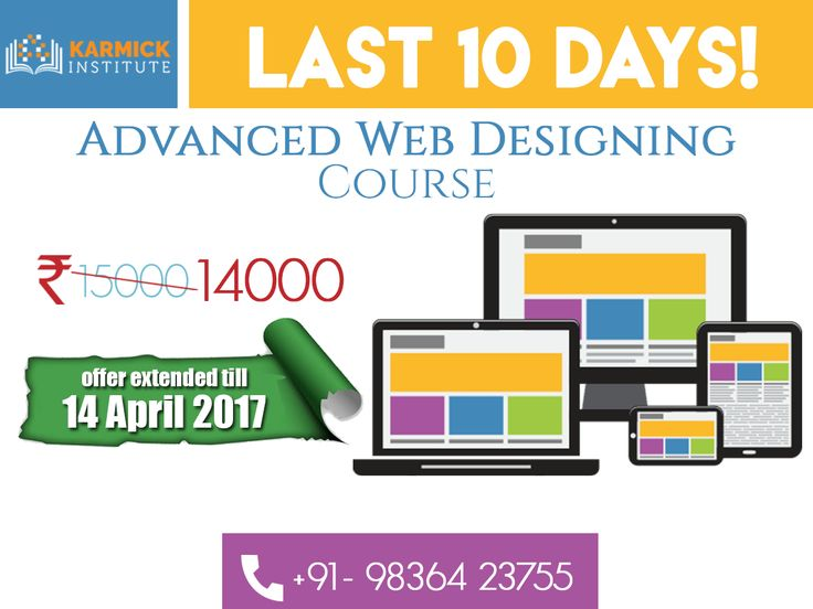 LAST 10 DAYS to avail discount on Advanced #WebDesigning #Training in Kolkata! To enroll visit: http://ht.ly/6frZ30axxX8/ +91-9836423755
