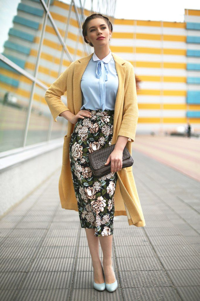 I love midi pencil skirts!
