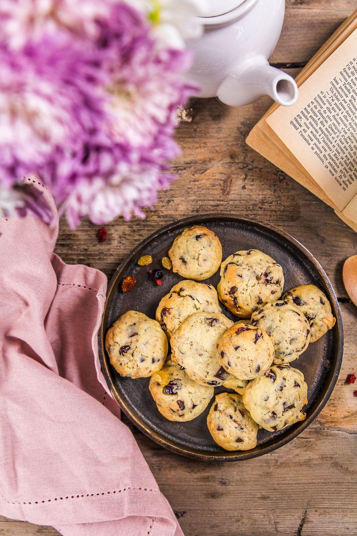 Recette des cookies cranberries chocolat