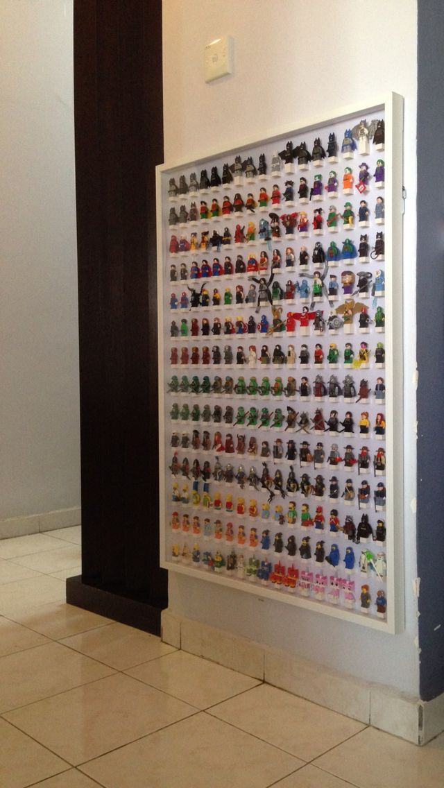 Modification of IKEA RIBBA frame 100x70cm for Lego minifigures