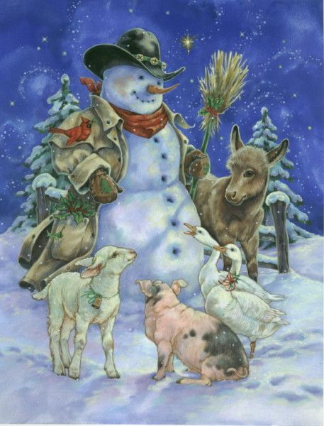 Western Snowman Christmas Donna Race