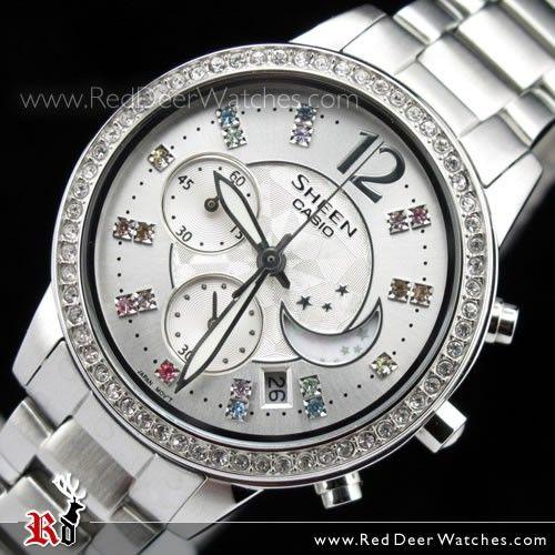 Casio Sheen Ladies Chronograph Dress Watch SHE-5018D-7A SHE5018D