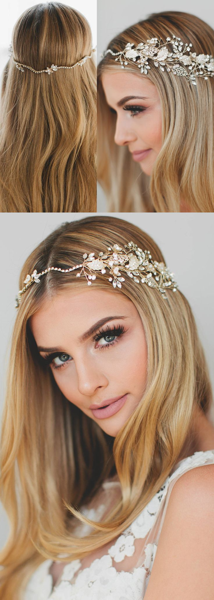 This lovely bridal wreath is packed with gilded leaves and glistening Swarovski crystals. This soft bohemian bridal crown is gorgeous on its own or coupled with a veil as shown in the last two photos. Bridal Crystal Crown, Bridal Gold Crown, Bridal Halo Headband, Bridal Halo Crown, Crystal Hair Vine, Gold Tiara Headband, Boho Circlet. #wedding #fallwedding #winterwedding #bride #bridalwear #mrandmrs #weddingvine #bridalcorsage #weddingcorsage #affiliatelink #bridalaccessories