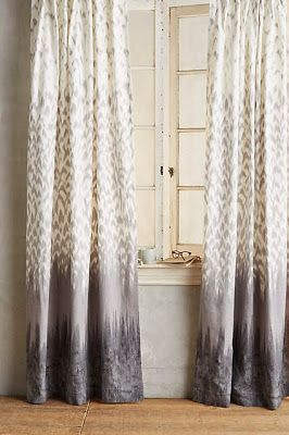 #anthrofave print pattern patterned curtains, drapes, ombre, lavender, lilac, gray