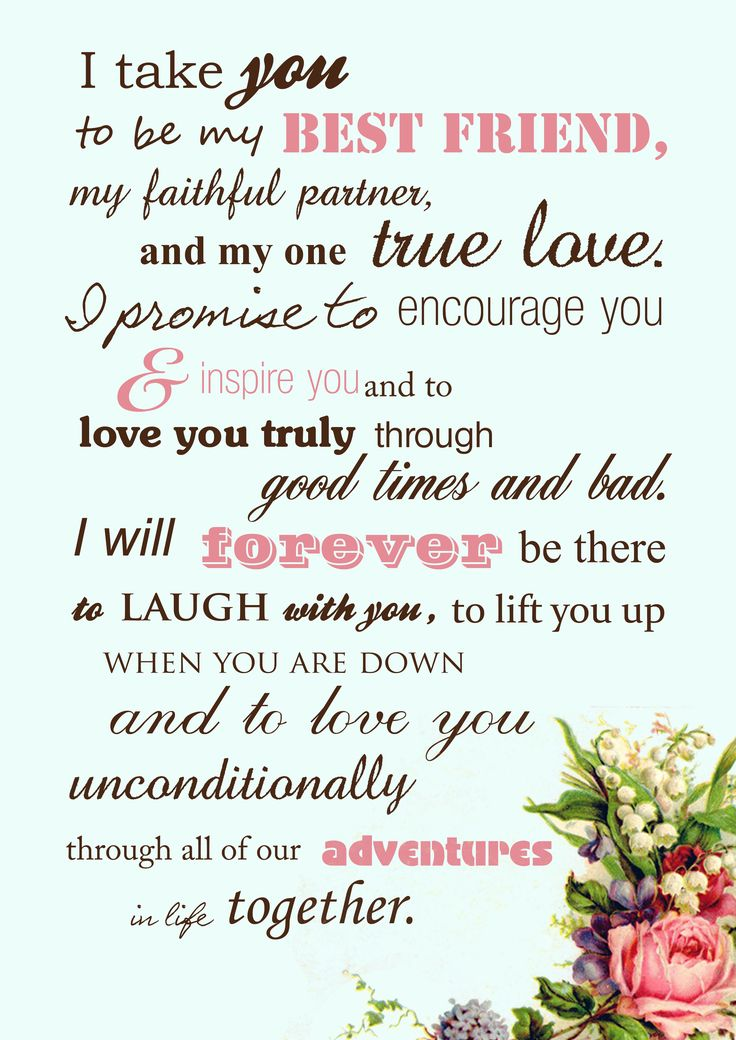 Beautiful wedding vows instead of the traditional by the book vows