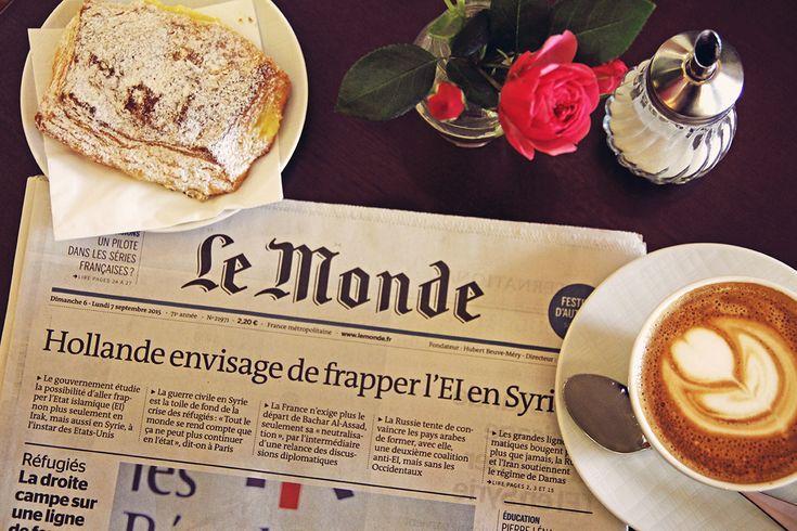 Boulangerie Francaise Kiel Café torte Gebäck Croissant Cappuccino Le Monde