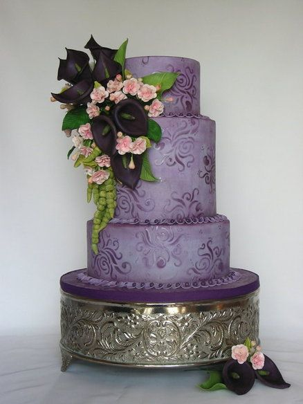 112 best Purple wedding cakes images on Pinterest Biscuits