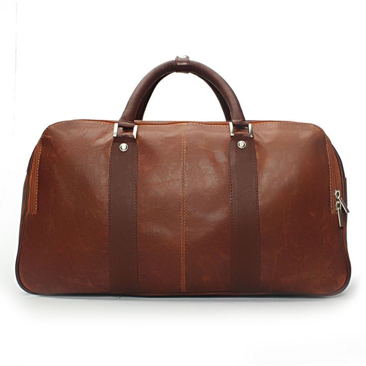 Housse en cuir rokker Duffle Bag Dark Brown YnZ7cwprc