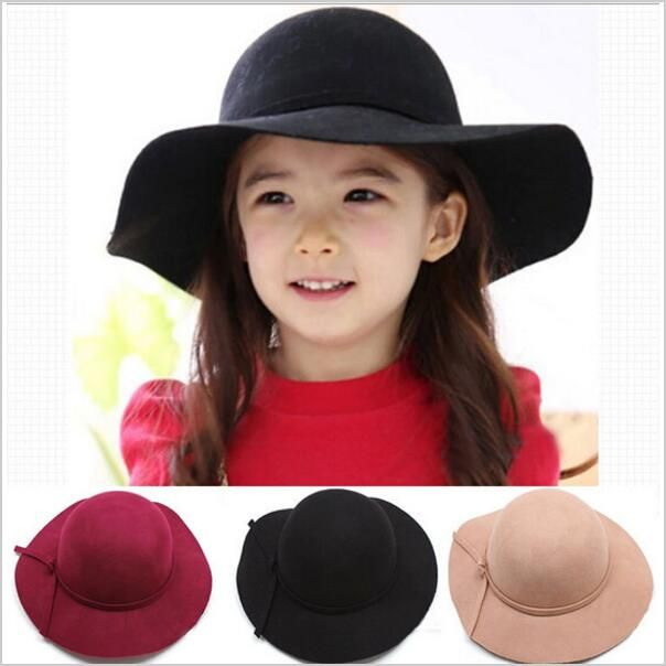 <January's Offer! Click Image to Buy!> Winter Warm Bowknot Cap Bowler Hat Girls Felt Cap Vintage Fedora Fashion Kids Wide Brim Soft Wool Hat Lovely Style Drop shipping ** View this trendy piece in details on  AliExpress.com. Just click the VISIT button.