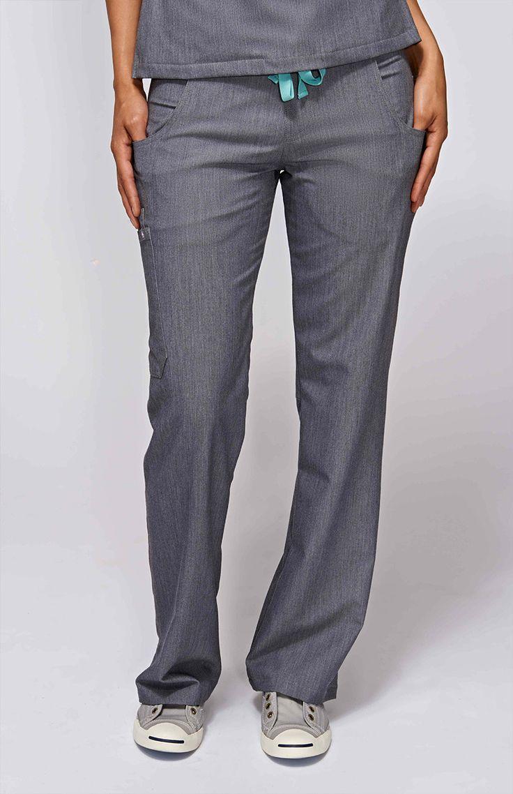 women's kade cargo scrub pants - graphite