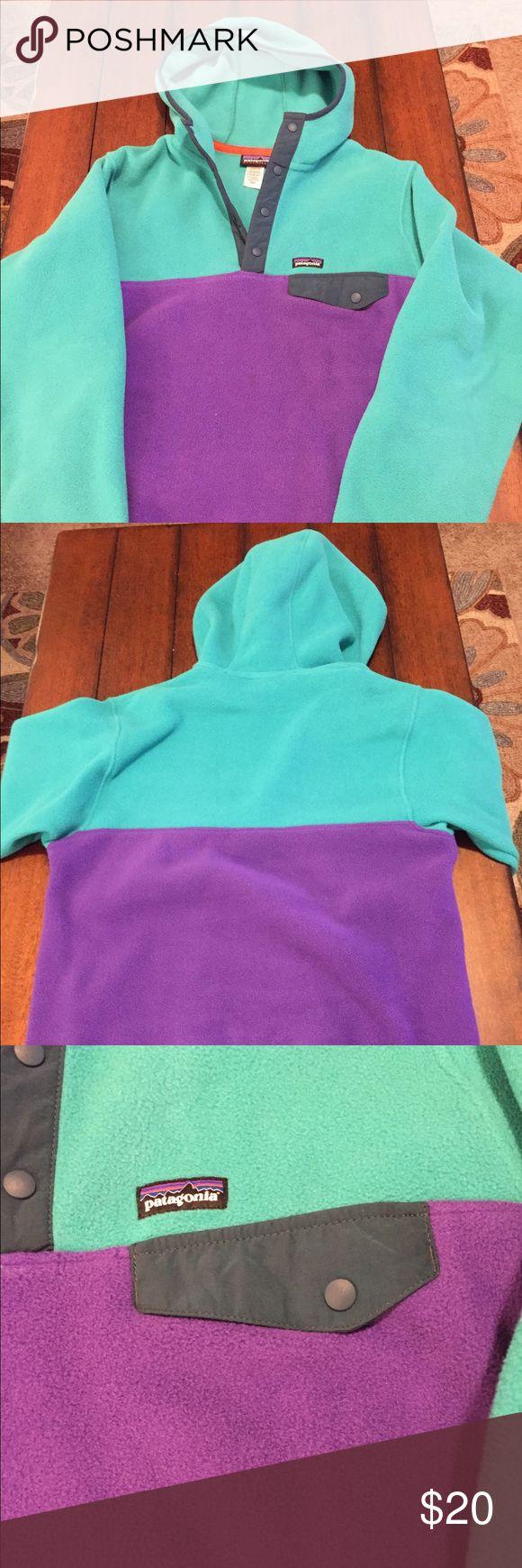 Patagonia Hoodie Purple and Teal Patagonia Hoodie Patagonia Jackets & Coats Utility Jackets