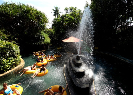 Lazy River Tropical Jungle - Bali Waterbom