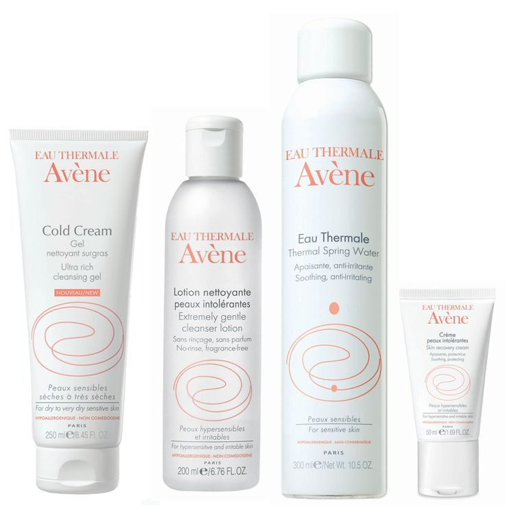 Morning cleanser: #Avène Extremely Gentle Cleanser. Afternoon cleanser: Avène Cold Cream Gel. Toner: Avène Eau Thermale. Moisturiser: Avène Skin Recovery Cream.