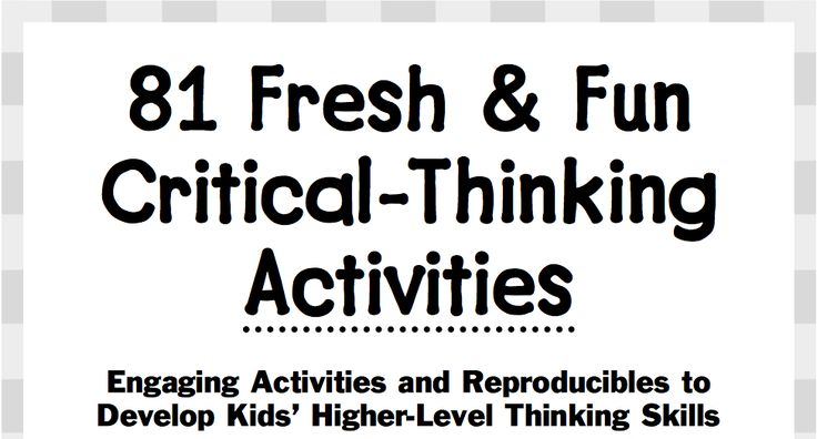 This site is a critical thinking treasure! like activity where you put a topic in the middle and have students fill in related information around it.