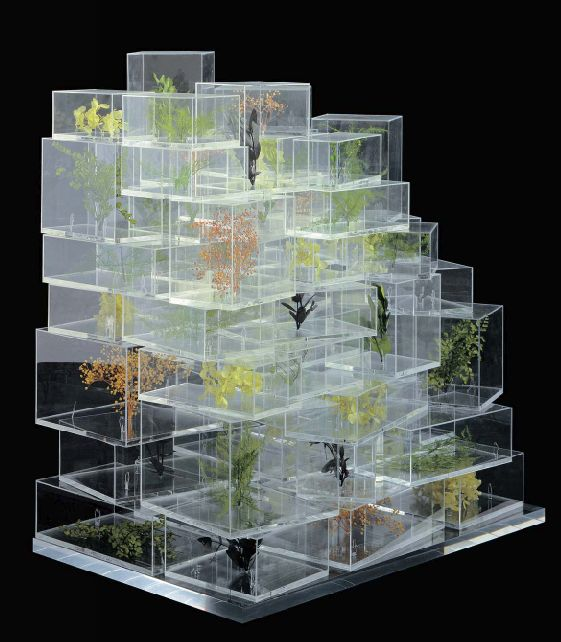 sou fujimoto. I love the concept of making a model out of clear Perspex instead of mdf