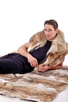 Coyote Fur Throw - Coyote Blanket Throw $2495
