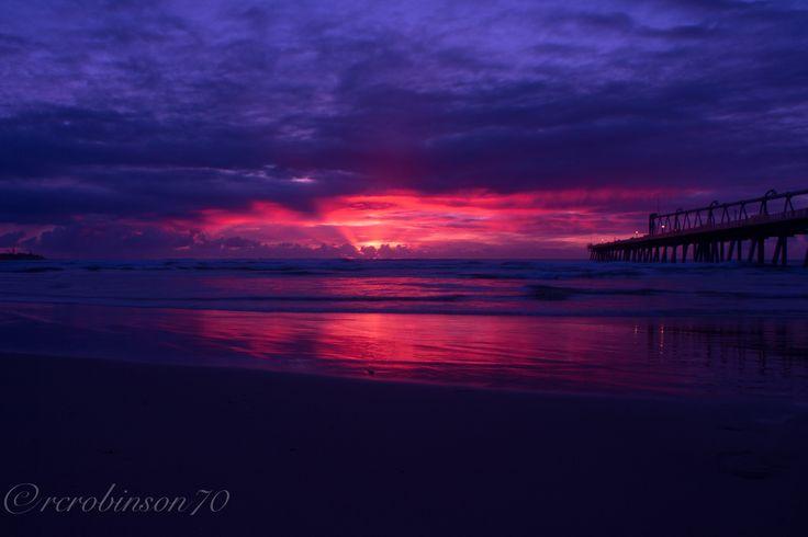 Sunrise sat the Gold Coast spit