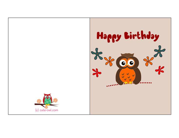 Best 25 Birthday Cards To Print ideas – Free Birthday Cards to Print