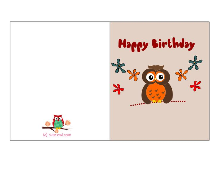 Birthday Cards For Boyfriend Printable Free ~ Birthday cards to print for free this is another adorable printable card with a