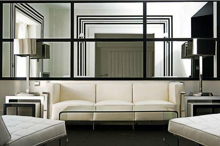Deko Wandspiegel Wohnzimmer Modernes Wohnzimmer Spiegel Optische   Deko  Wandspiegel Wohnzimmer