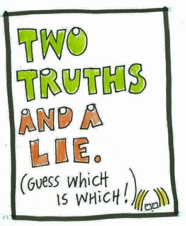 Who wants to play a game? Comment below 2 truths and a lie and then we'll guess which is the lie.