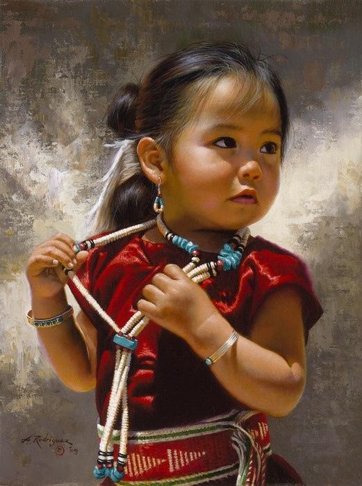 South American Tribal Girls Cute south american girl in