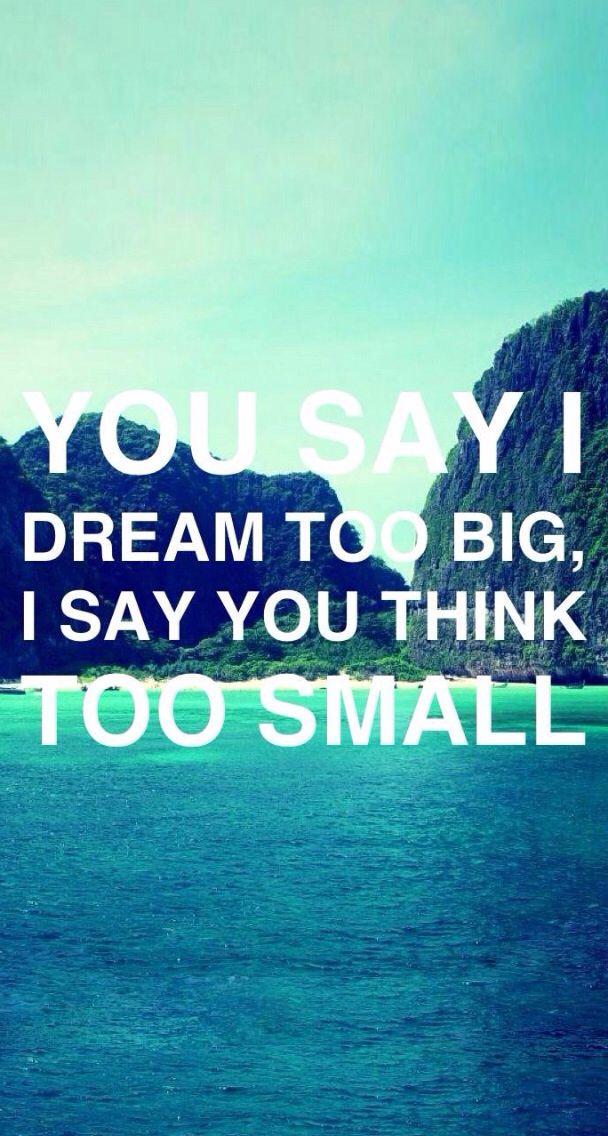 Nichts ist zu groß, wenn du größer denkst!