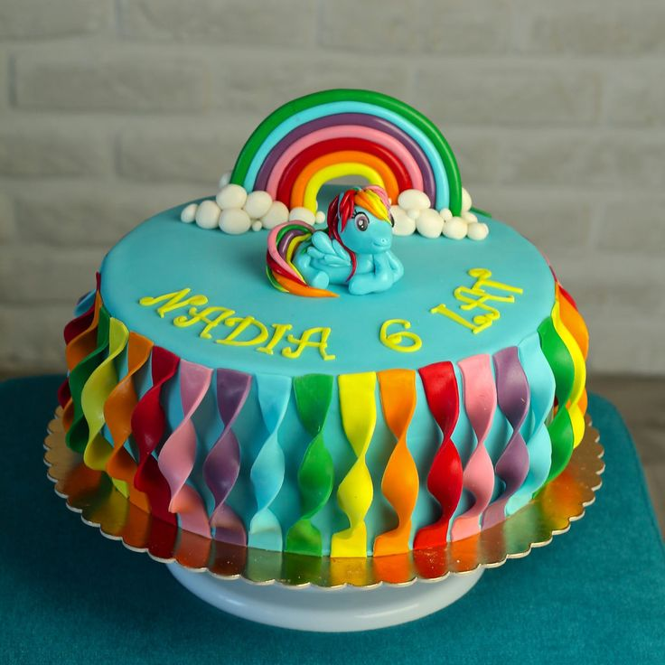 orchideli - My little pony cake with Rainbow dash