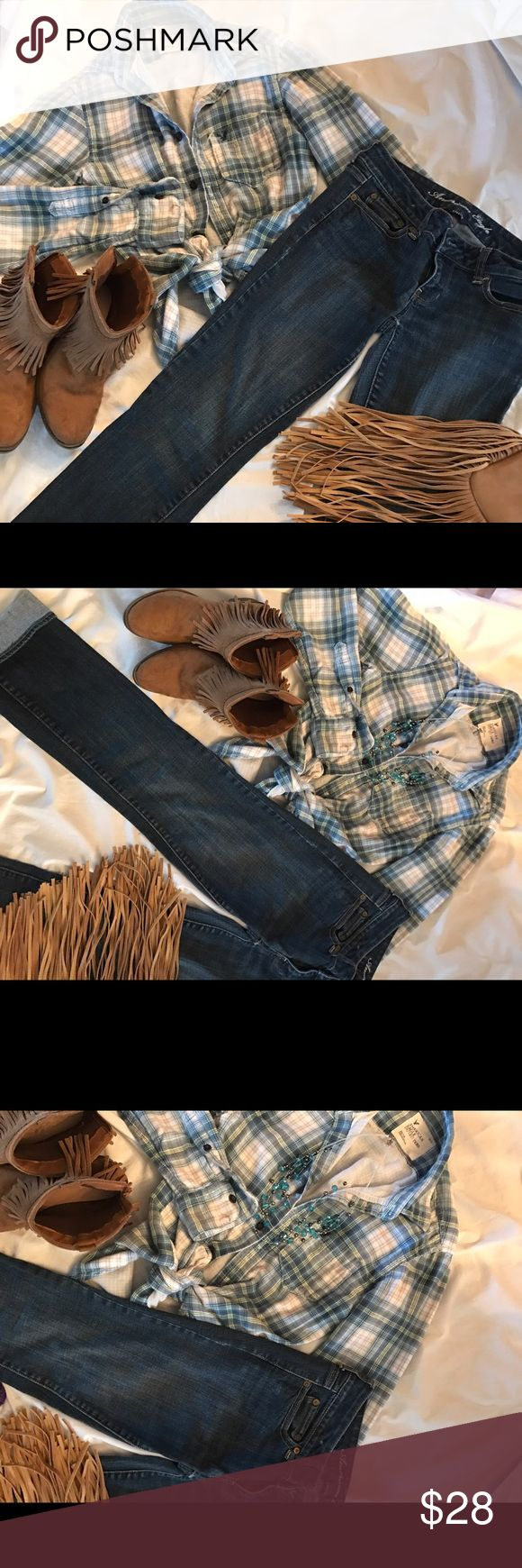 💖💖American Eagle Bundle💖🎉 💥💜American Eagle Jeans and Top💖💖 American Eagle Outfitters Jeans Straight Leg