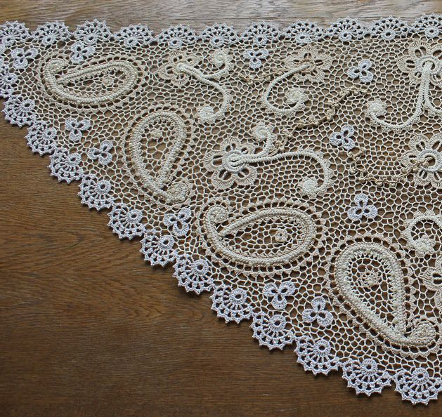 Irish Crochet Lace Shawl Pattern : 1000+ images about irish crochet on Pinterest Irish ...