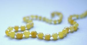 Baltic Amber Necklace for teething and pain management in babies, children and adults. We use Hazelaid or Inspired by Finn. The lighter the color and the cloudier the bead the stronger the effect.When worn against the skin, the tree resin beads warm and release succinic acid which is a natural pain reliever. We used this on Waverly since she was 6 months. She still uses this now as a toddler.
