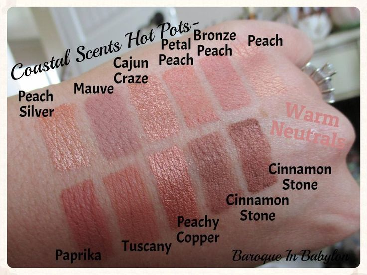 Baroque In Babylon: Swatches of Coastal Scents Hot Pots- Warm Neutrals