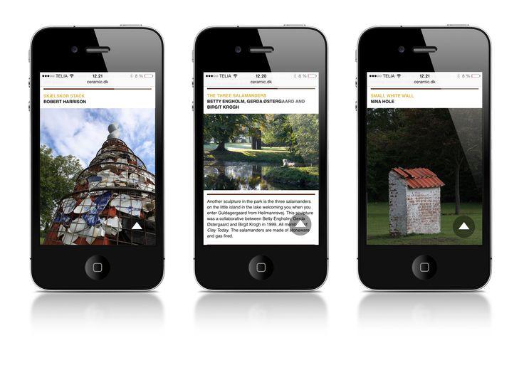 Die Website in der mobilen Version