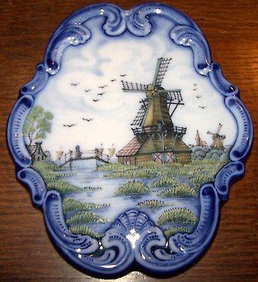 Beautiful wall plaque, Windmill Handpainted,Workum Makkum Delft