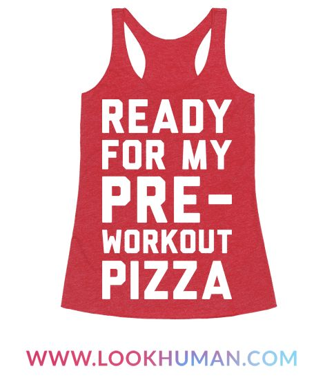 Once that pre-workout kicks in you'll be ready to go, maybe? This funny fitness design features the text 'Ready For My Pre-Workout Pizza' for your lazy fitness needs. Perfect for pizza lovers, lazy workout, nerd fitness, funny workout, fitness humor, workout humor, and the anti fitness club!