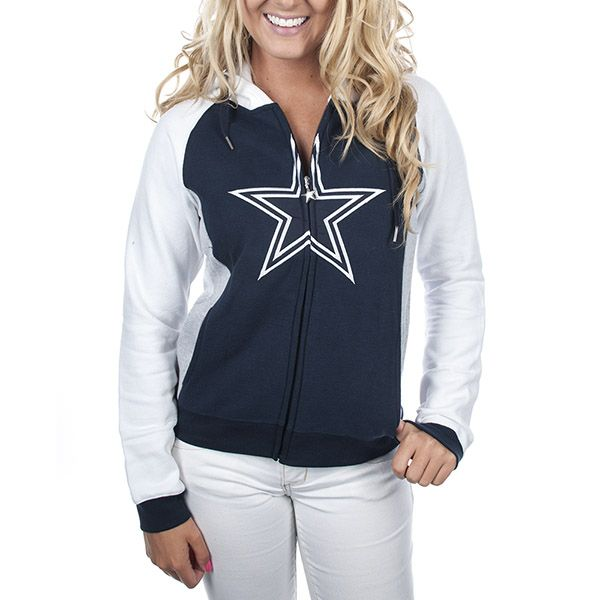Dallas Cowboys Womens Tailgate Full Zip Hoodie | Dallas Cowboys Clothing | Dallas Cowboys Store - Dallas Cowboys Pro Shop